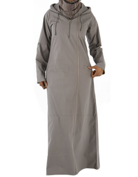 Leisure Abaya / jilbab with Charcoal Stripe