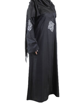 handloom cotton embroidered Abaya / Jilbab