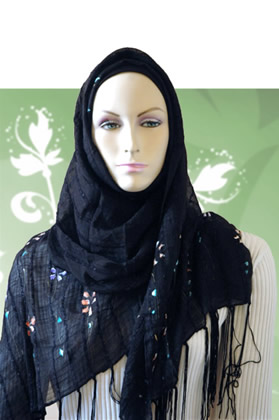 Hand Painted Hijab Scarf